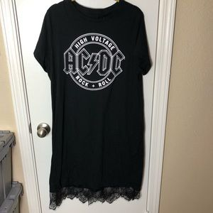 Urban Outfitters Dresses - AC/DC Lace T Shirt Dress